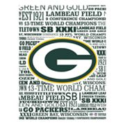 Green Bay Packers Typography Canvas Wall Art