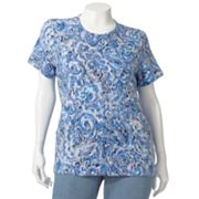 Croft and Barrow Ikat Tee - Women's Plus