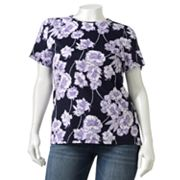 Croft and Barrow Floral Tee - Women's Plus
