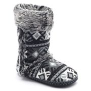 Mudd Fairisle Knit Bootie Slippers