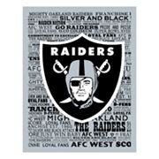 Oakland Raiders Typography Canvas Wall Art