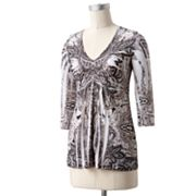 Apt. 9 Medallion Crochet Sublimation Top - Petite