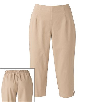 Croft and Barrow Pull-On Capris - Petite