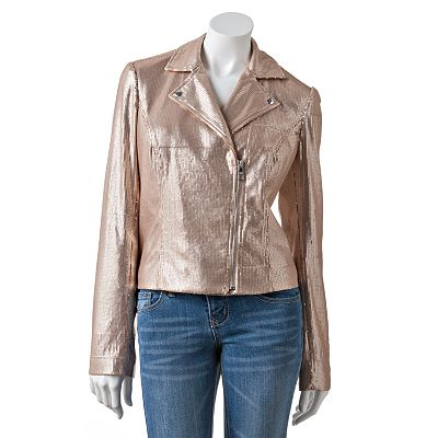 Candie's Sequin Moto Jacket - Juniors