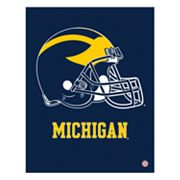 Michigan Wolverines Helmet Canvas Wall Art