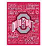 Ohio State Buckeyes Typography Canvas Wall Art