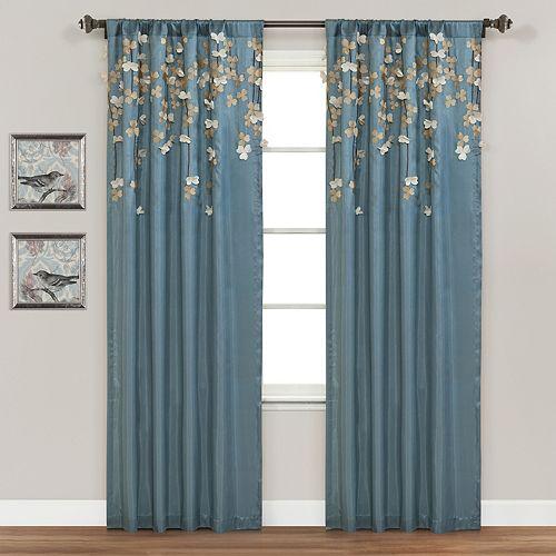 "Lush Decor Flower Drop Window Curtain - 42"" x 84"""
