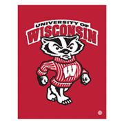 Wisconsin Badgers Mascot Canvas Wall Art