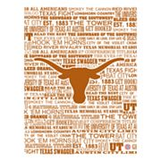 Texas Longhorns Typography Canvas Wall Art
