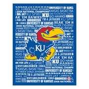 Kansas Jayhawks Typography Canvas Wall Art