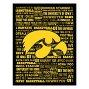 Iowa Hawkeyes Typography Canvas Wall Art