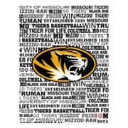 Missouri Tigers Typography Canvas Wall Art