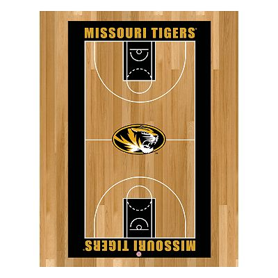 Missouri Tigers Basketball Court Canvas Wall Art