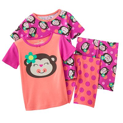 Jumping Beans Monkey and Polka-Dot Pajama Set - Toddler