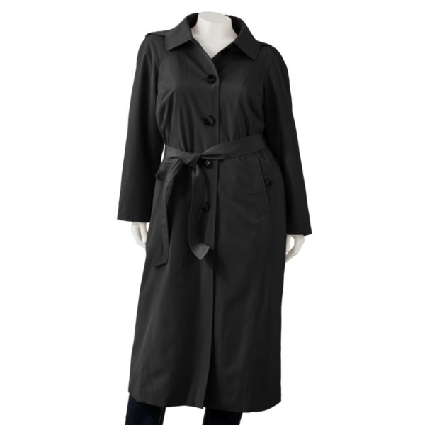 TOWNE by London Fog Trench Coat Women,s Plus