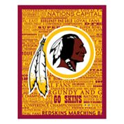 Washington Redskins Typography Canvas Wall Art