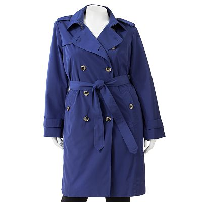 Towne by London Fog Trench Raincoat - Women's Plus