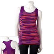 Tek Gear Striped Racerback Performance Tank