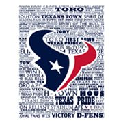 Houston Texans Typography Canvas Wall Art