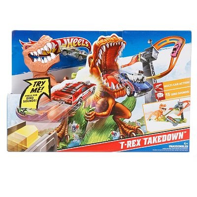 Hot Wheels T-Rex Takedown Track Set by Mattel