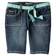Mudd Heavy Stitch Denim Bermuda Shorts - Girls 4-6x