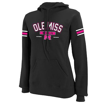 Russell Athletic Ole Miss Rebels Striped Hoodie - Women