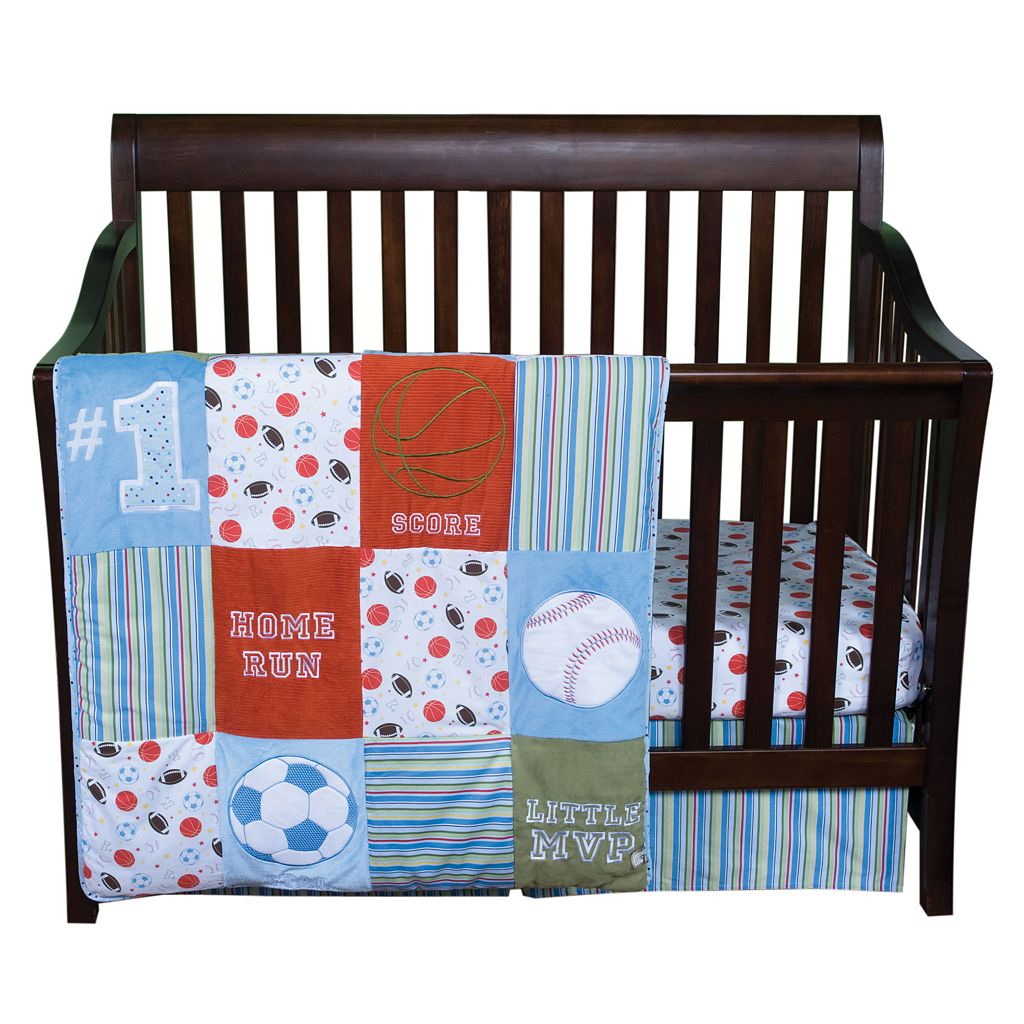 Trend Lab Little MVP 3-pc. Crib Bedding Set