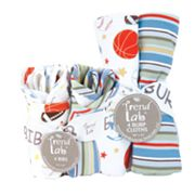 Trend Lab Little MVP 8-pc. Bib and Burp Cloth Set