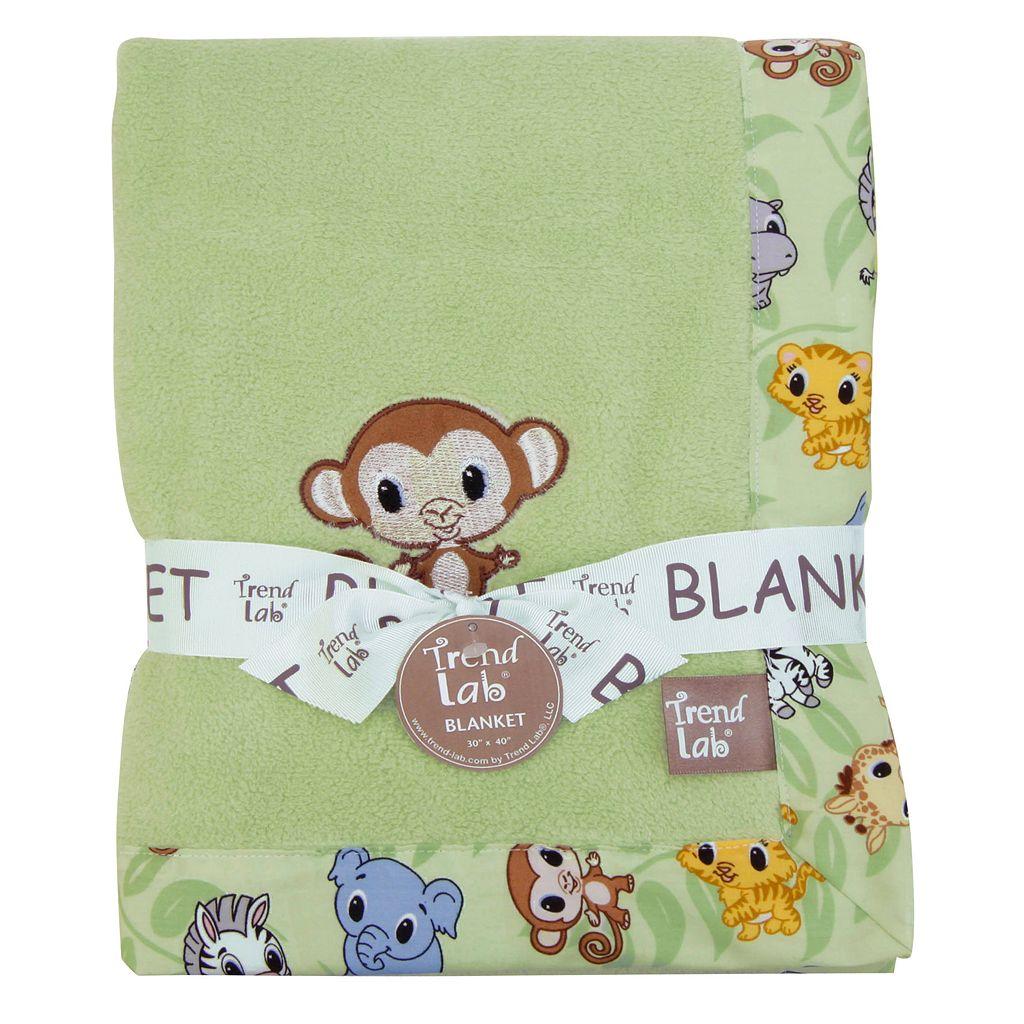 Trend Lab Chibi Zoo Receiving Blanket