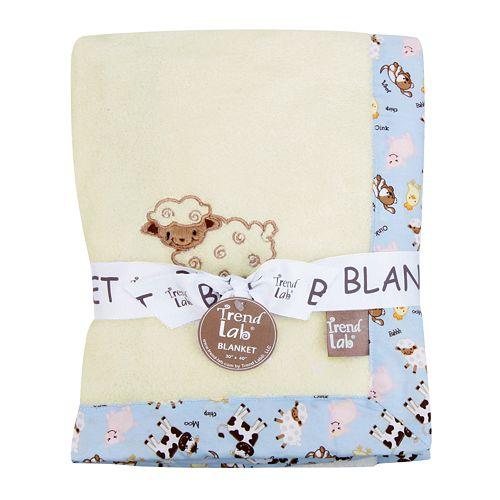 Trend Lab Baby Barnyard Receiving Blanket