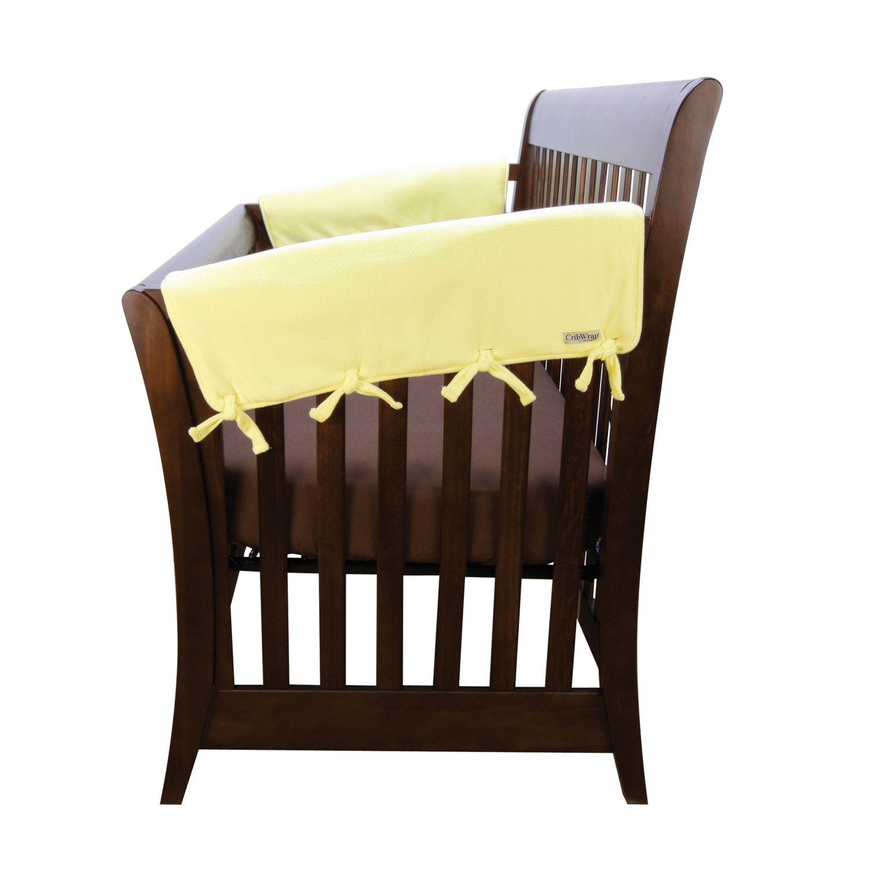short fleece crib rail covers