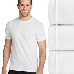 Men's Jockey 3-pk. Slim-Fit Tailored StayDry Crewneck Tees