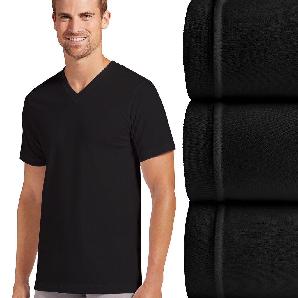 Men's Jockey 3-pk. Slim-Fit Tailored StayDry V-Neck Tees