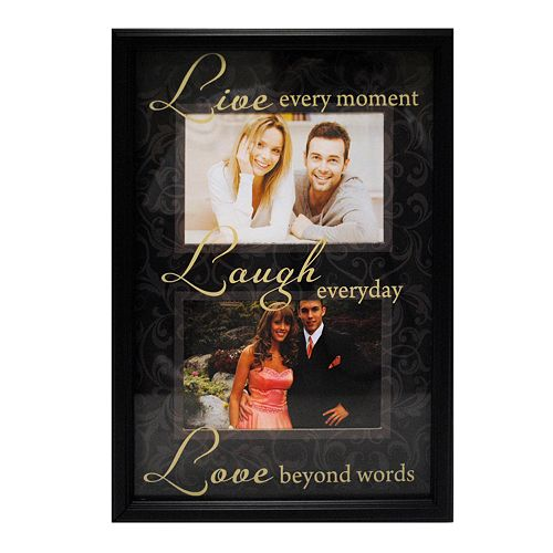 New View Live Laugh Love 2 Opening Collage Frame
