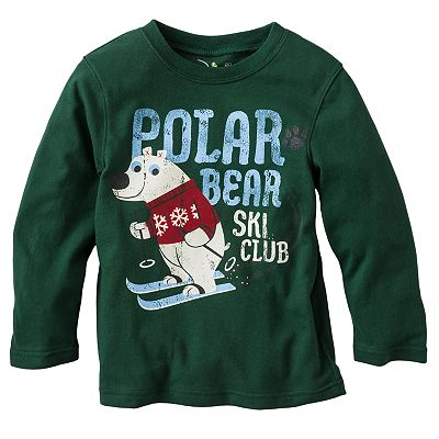 Jumping Beans Polar Bear Ski Club Tee - Toddler