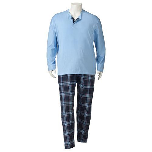 Big & Tall Residence Flannel Pajama Set