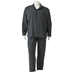 Big & Tall Residence Plaid Flannel Pajama Set