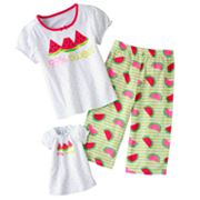 Jumping Beans 99 Percent Sweet Watermelon Pajama Set - Girls 4-7