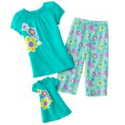 Jumping Beans Floral Pajama Set - Girls 4-7