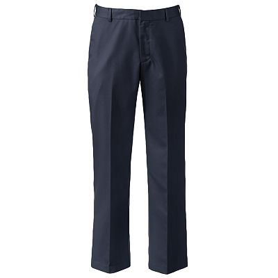 Van Heusen Straight-Fit No-Iron Flat-Front Pants