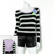 Princess Vera Wang Striped Sweater - Juniors