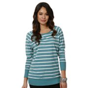 daisy fuentes Striped Raglan Sweater