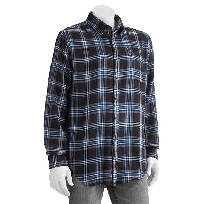 Croft and Barrow Plaid Signature Flannel Casual Button-Down Shirt - Big and Tall