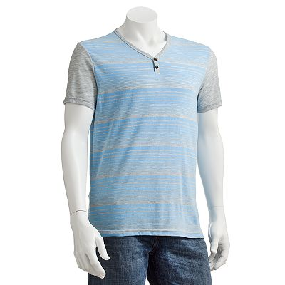 Marc Anthony Striped Y-Neck Tee