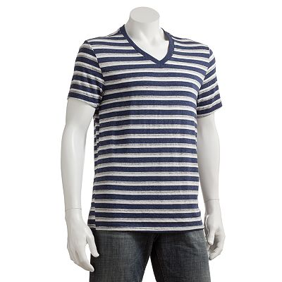 Brigade Push Striped V-Neck Tee - Men