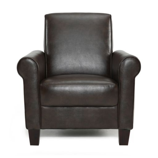 DHI Rollx Faux-Leather Accent Chair