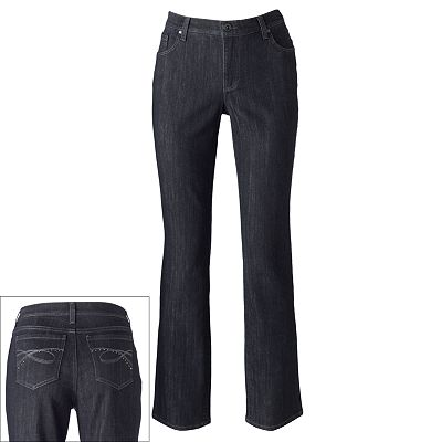 Gloria Vanderbilt Ashley Slimming Straight-Leg Jeans - Petite