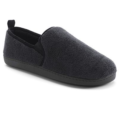 Totes Microterry Slip-On Slippers - Men