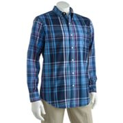 Chaps Seabrook Plaid Casual Button-Down Shirt - Big and Tall
