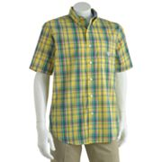 Chaps Sapelo Plaid Easy-Care Casual Button-Down Shirt - Big and Tall